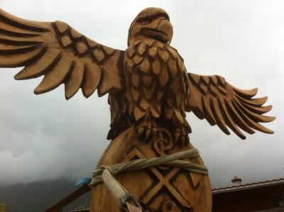 Marterpfahl vom Holzkäfer aus Weißbach